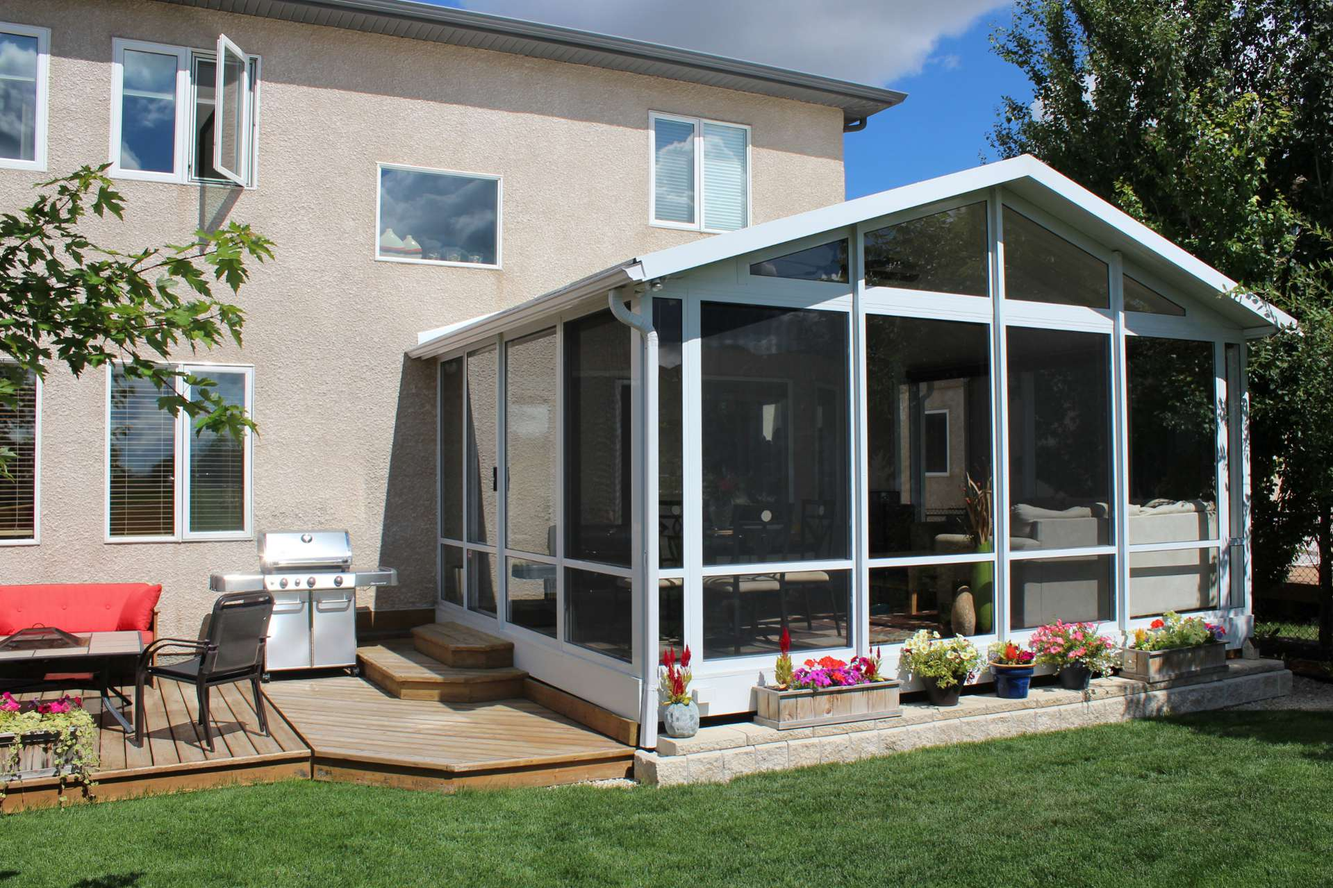 High quality maintenance free glastar sunrooms for Screen room addition plans